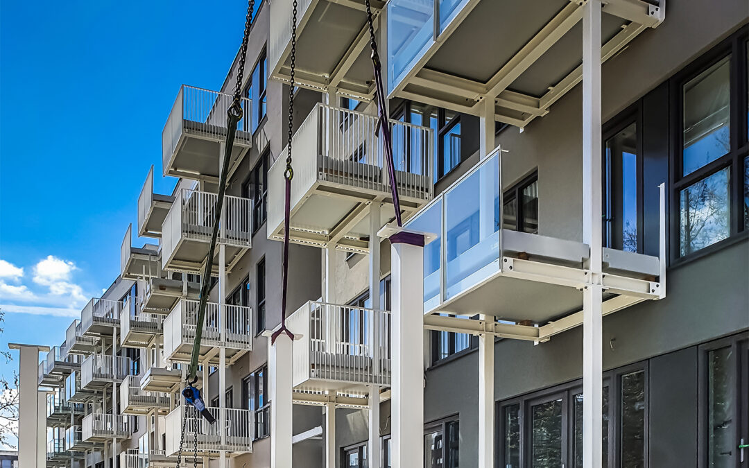 Lichtgewicht polyester balkons | Schiedam