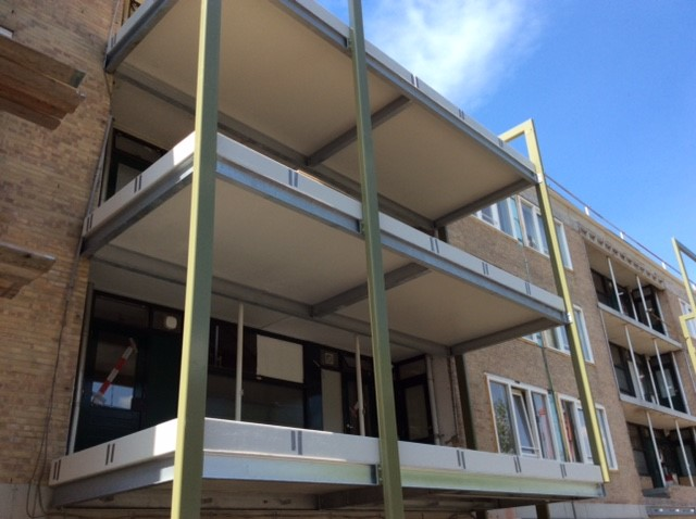 Lichtgewicht polyester balkons – balkonvergroting